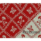 Entrelacs Red Fabric