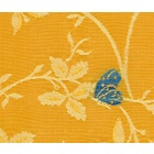 Papillons Yellow Fabric